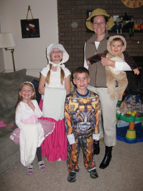 Emma & the kids on halloween