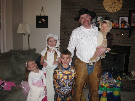 Mark & the kids on halloween